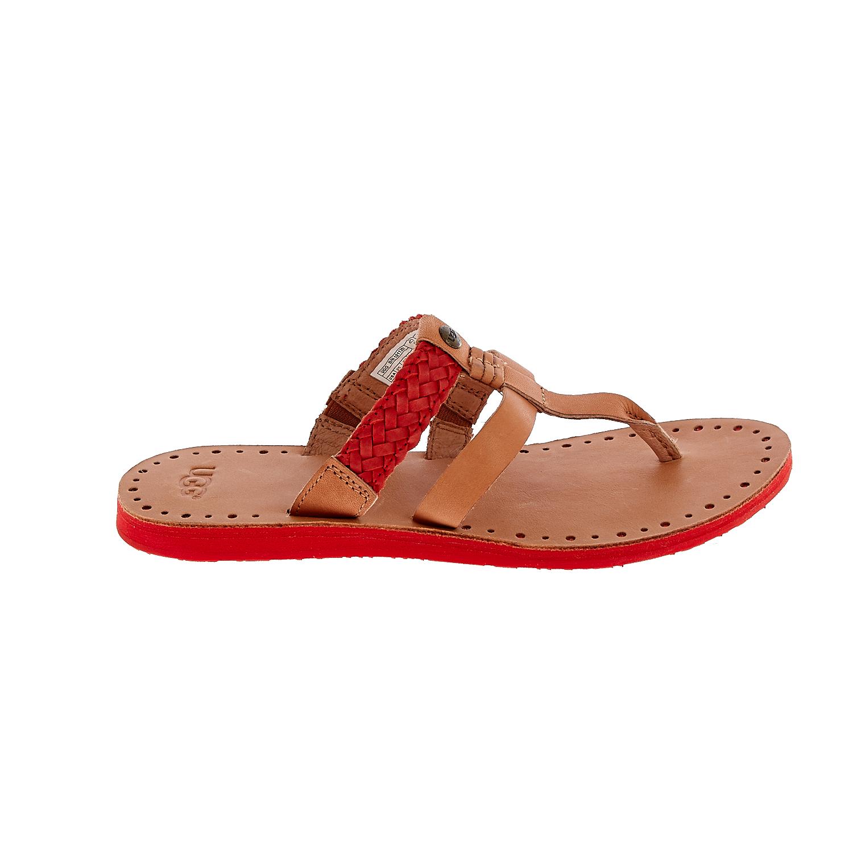 UGG AUSTRALIA – Γυναικεία σανδάλια UGG AUDRA καφέ-κόκκινο