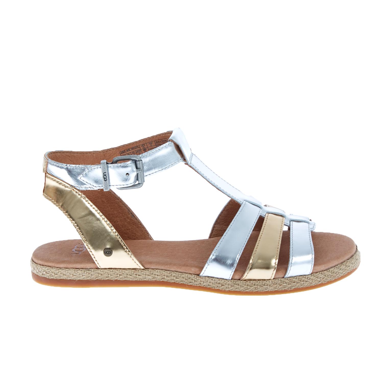 UGG AUSTRALIA - Γυναικεία σανδάλια UGG LANETTE χρυσά-ασημί γυναικεία παπούτσια πέδιλα
