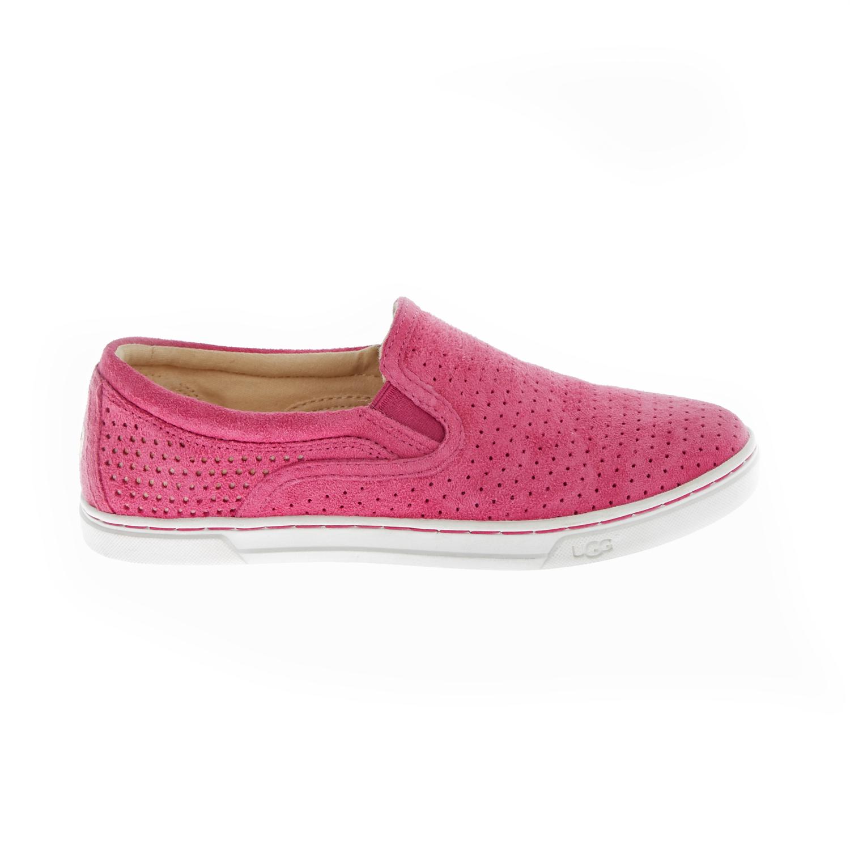 UGG AUSTRALIA - Γυναικεία slip-on sneakers UGG FIERCE GEO ροζ γυναικεία παπούτσια μοκασίνια μπαλαρίνες μοκασίνια