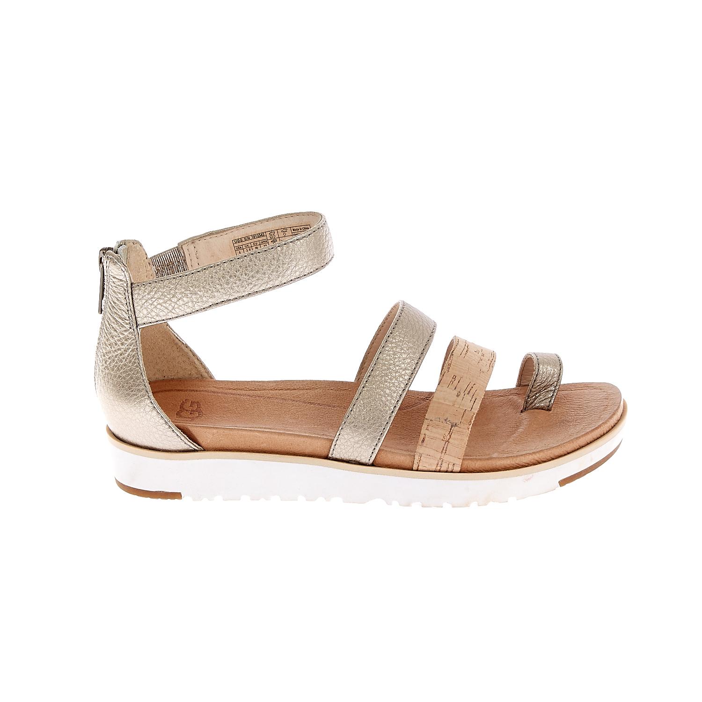 UGG AUSTRALIA - Γυναικεία σανδάλια UGG ZINA ασημί γυναικεία παπούτσια πέδιλα