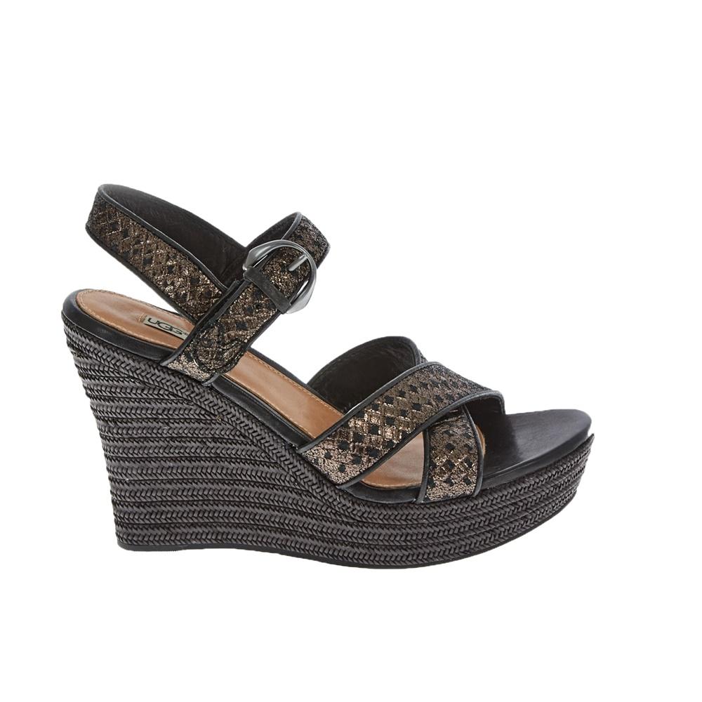 UGG AUSTRALIA - Γυναικείες πλατφόρμες UGG JAZMINE μαύρες γυναικεία παπούτσια πλατφόρμες