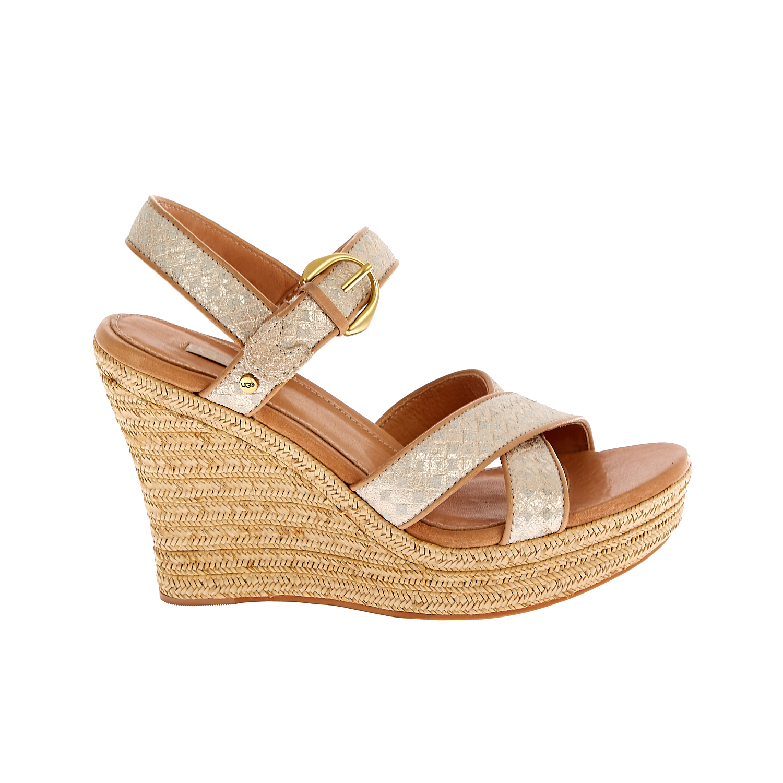 UGG AUSTRALIA - Γυναικείες πλατφόρμες UGG JAZMINE μπεζ-χρυσαφί γυναικεία παπούτσια πλατφόρμες