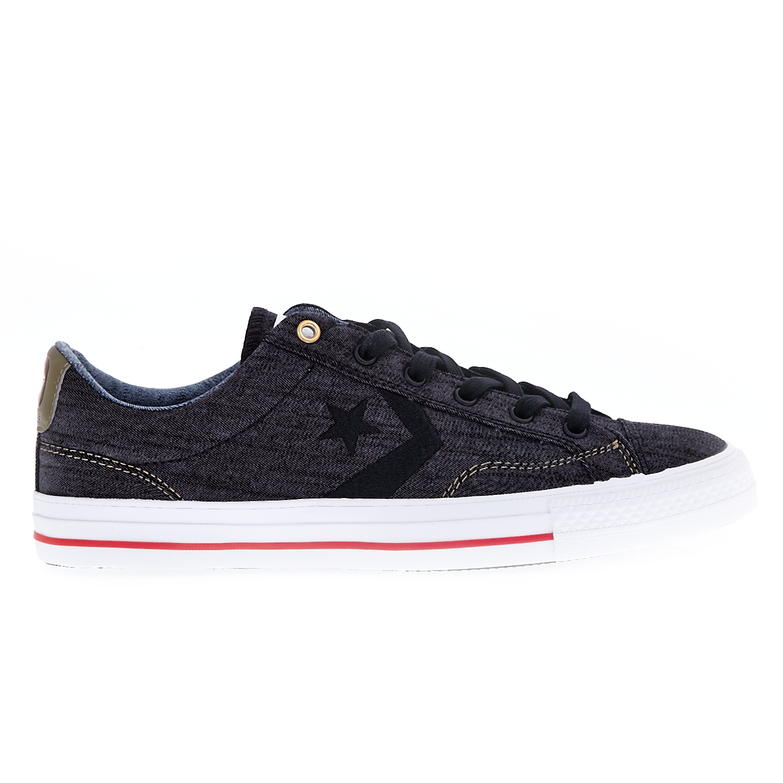 CONVERSE - Unisex παπούτσια Star Player Ox μαύρα ανδρικά παπούτσια sneakers