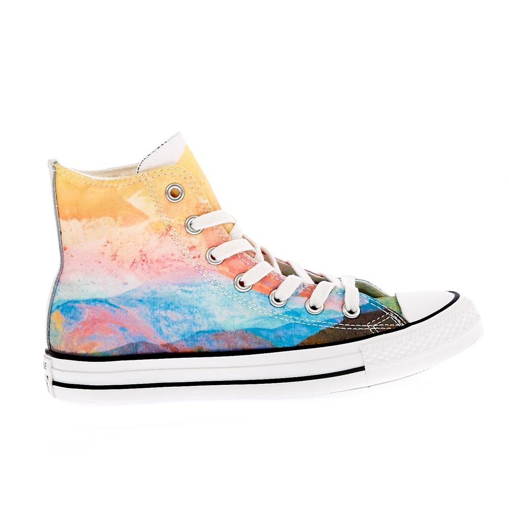 CONVERSE – Γυναικεία παπούτσια Chuck Taylor All Star Hi κίτρινα-ροζ