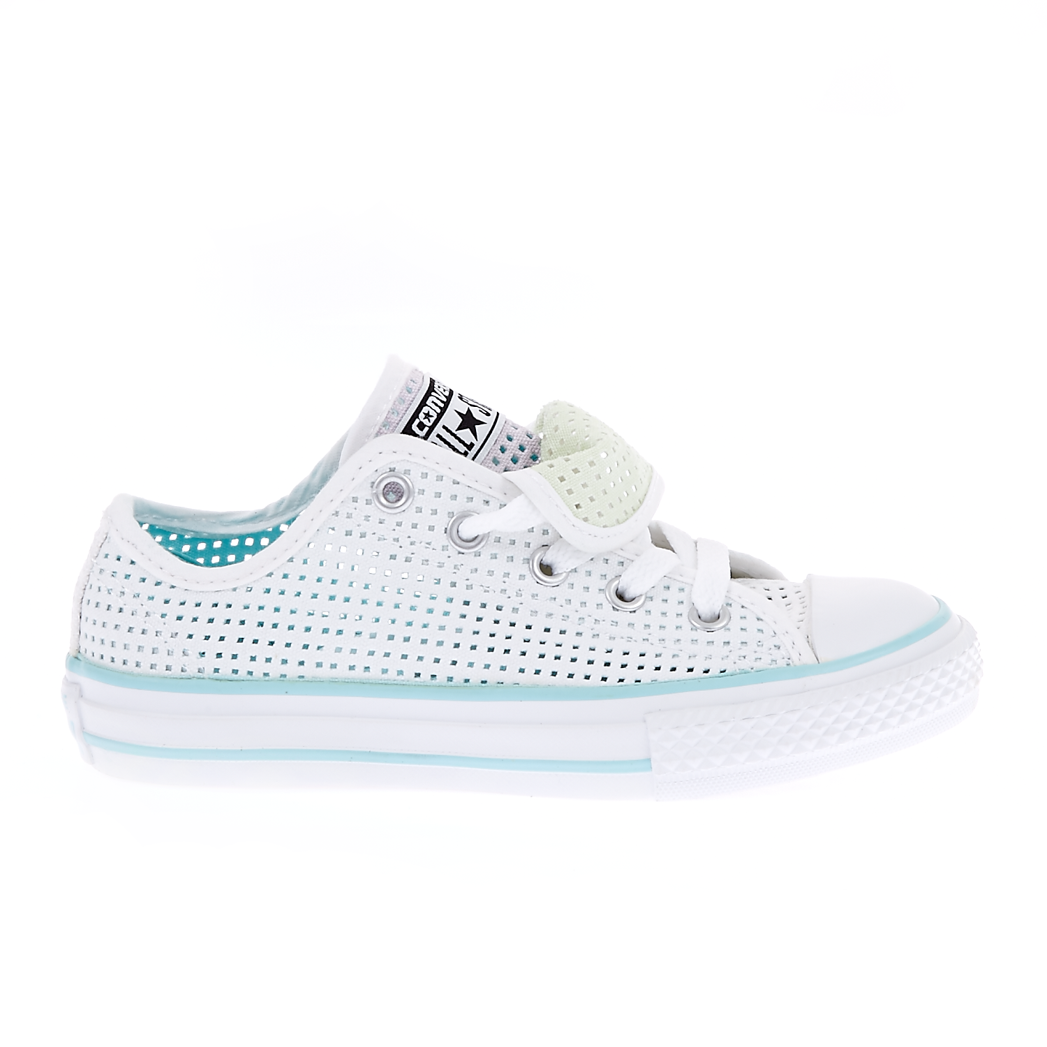 CONVERSE – Παιδικά παπούτσια Chuck Taylor All Star Double T λευκά