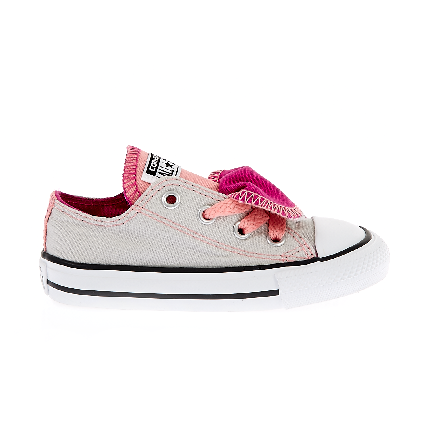 CONVERSE – Βρεφικά παπούτσια Chuck Taylor All Star Double T γκρι