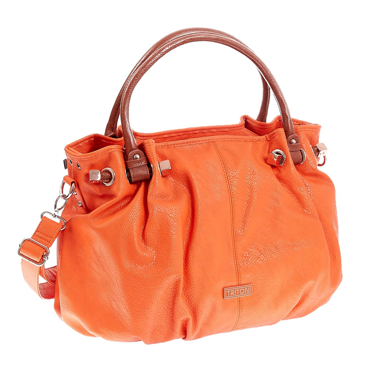 TRITON – Γυναικεία τσάντα Triton πορτοκαλί 1441212.0-0000