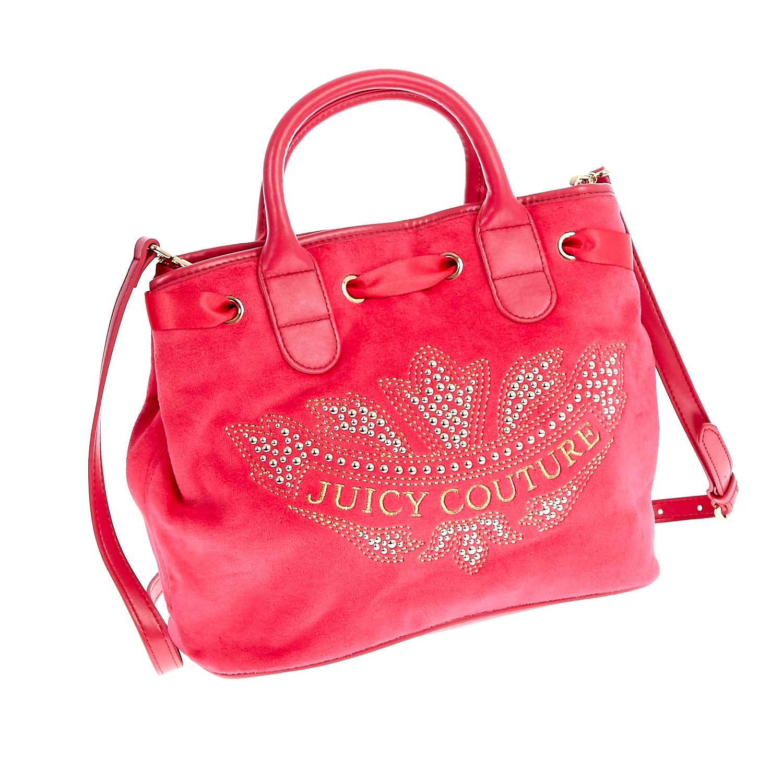 JUICY COUTURE - Γυναικεία τσάντα Juicy Couture κόκκινη-φούξια γυναικεία αξεσουάρ τσάντες σακίδια χειρός