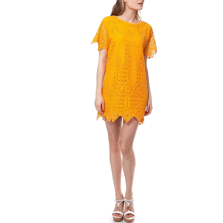 JUICY COUTURE - Γυναικείο φόρεμα Juicy Couture κίτρινο γυναικεία ρούχα φορέματα μίνι