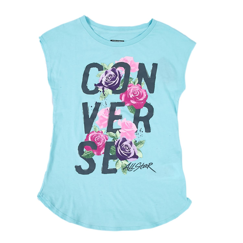 CONVERSE - Παιδική μπλούζα Converse γαλάζια