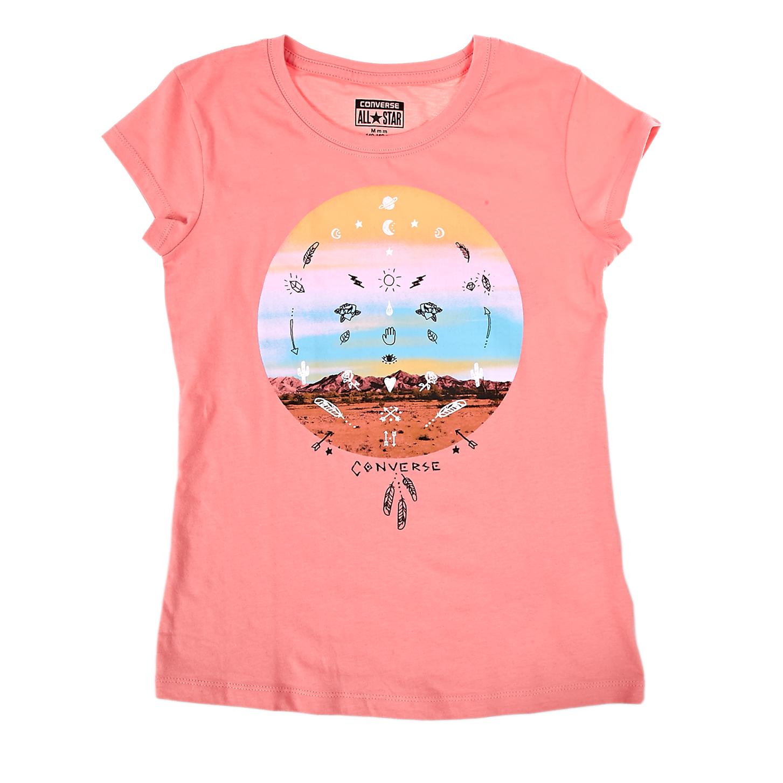 CONVERSE - Παιδική μπλούζα Converse ροζ