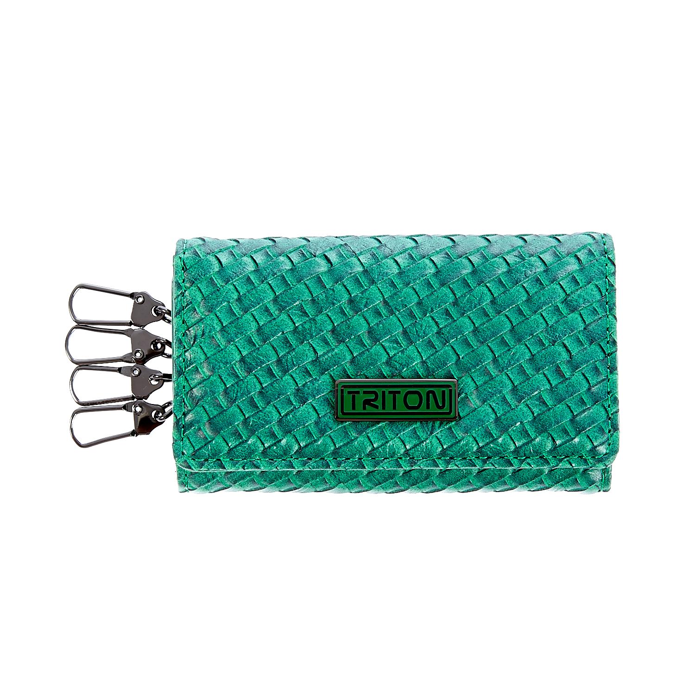 TRITON - Κλειδοθήκη Triton πράσινη γυναικεία αξεσουάρ πορτοφόλια μπρελόκ