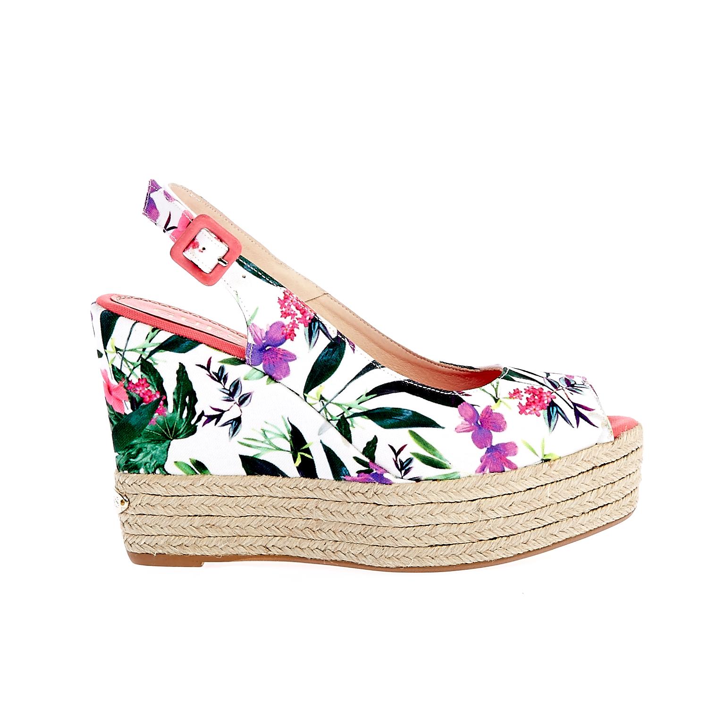 GUESS - Γυναικείες πλατφόρμες Guess λευκές γυναικεία παπούτσια πλατφόρμες