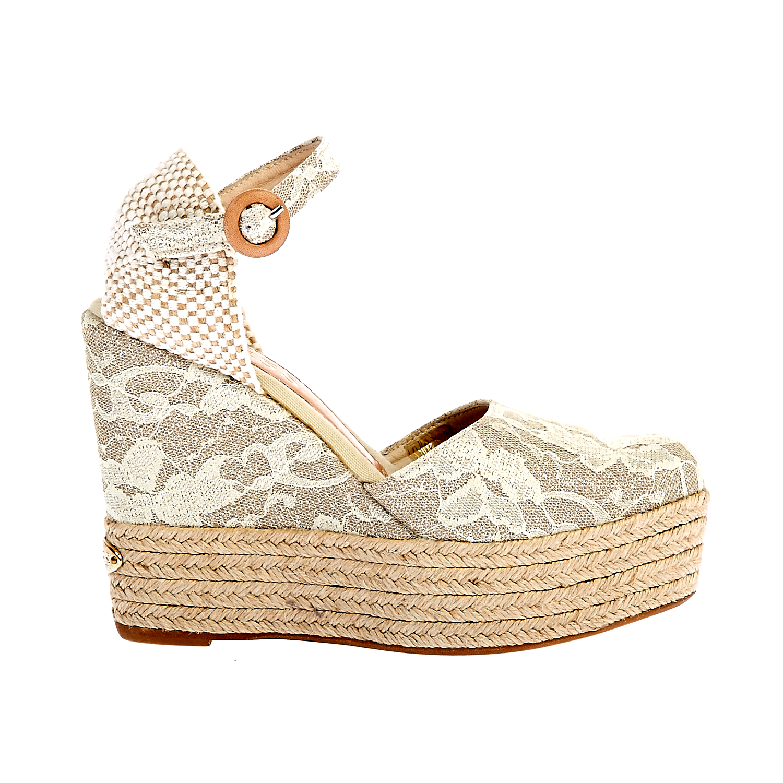 GUESS - Γυναικείες πλατφόρμες Guess εκρού γυναικεία παπούτσια πλατφόρμες