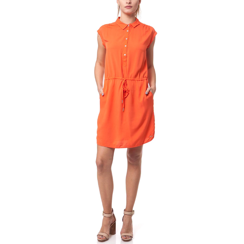 CALVIN KLEIN JEANS - Γυναικείο φόρεμα Calvin Klein Jeans πορτοκαλί γυναικεία ρούχα φορέματα μίνι