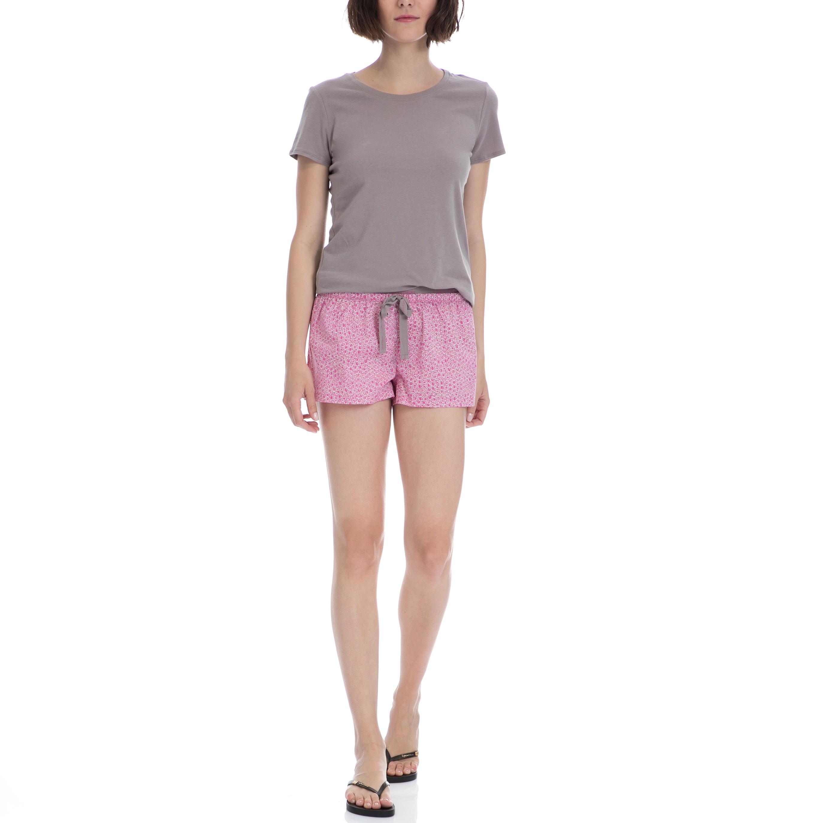 CK UNDERWEAR – Σετ πυτζάμες Calvin Klein ροζ-χακί-γκρι