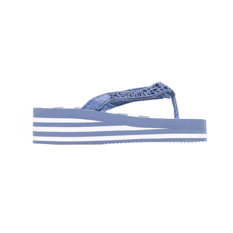 MONNALISA – Παιδικές σαγιονάρες Monnalisa μπλε-λευκές