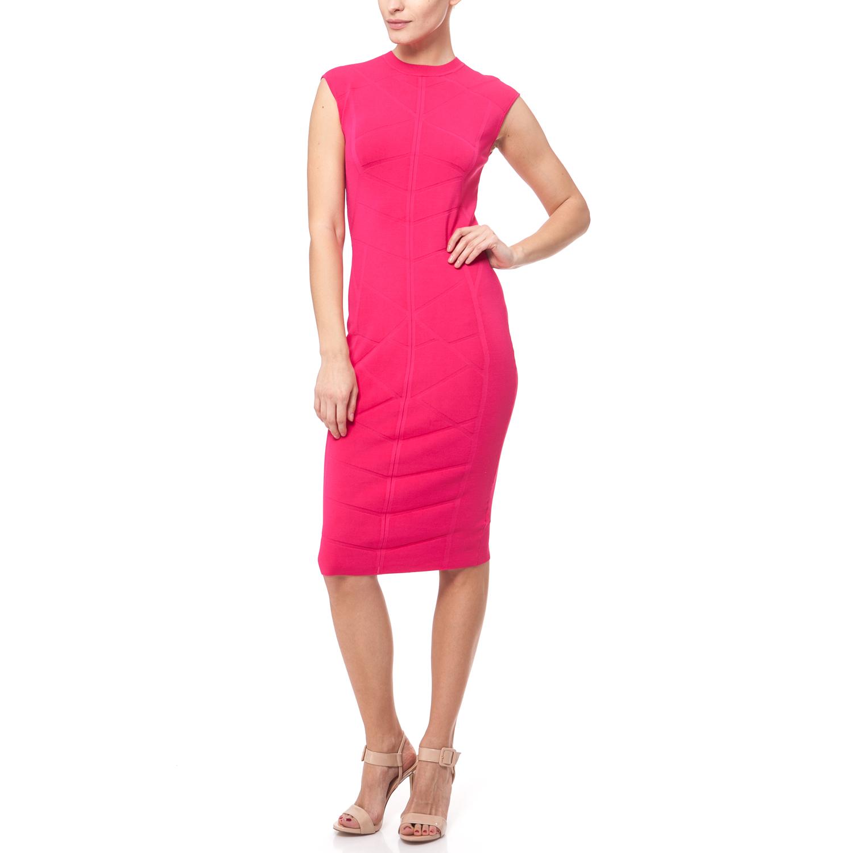TED BAKER - Γυναικείο φόρεμα Ted Baker φούξια γυναικεία ρούχα φορέματα μέχρι το γόνατο