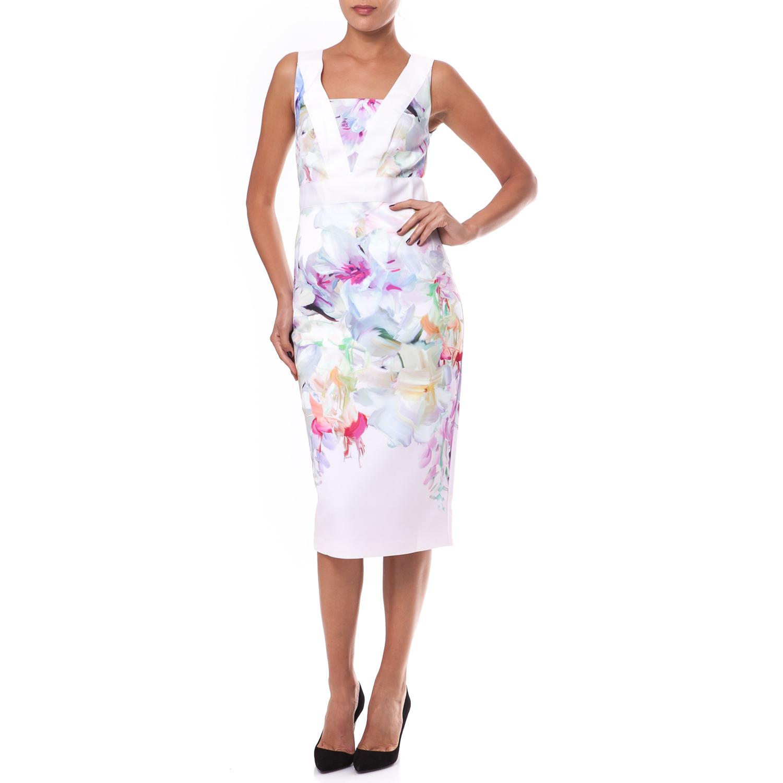 TED BAKER - Γυναικείο φόρεμα Ted Baker ροζ γυναικεία ρούχα φορέματα μέχρι το γόνατο