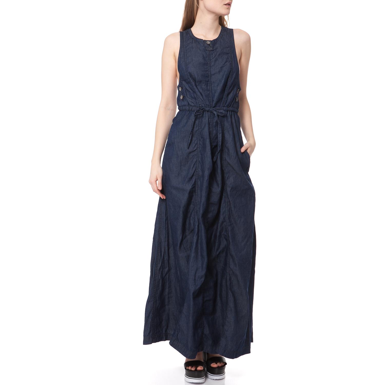 G-STAR - Maxi φόρεμα G-STAR RAW μπλε γυναικεία ρούχα φορέματα μάξι