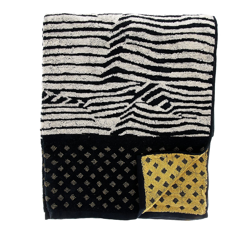 MAISON SCOTCH - Πετσέτα θαλάσσης Maison Scotch μαύρη γυναικεία αξεσουάρ πετσέτες