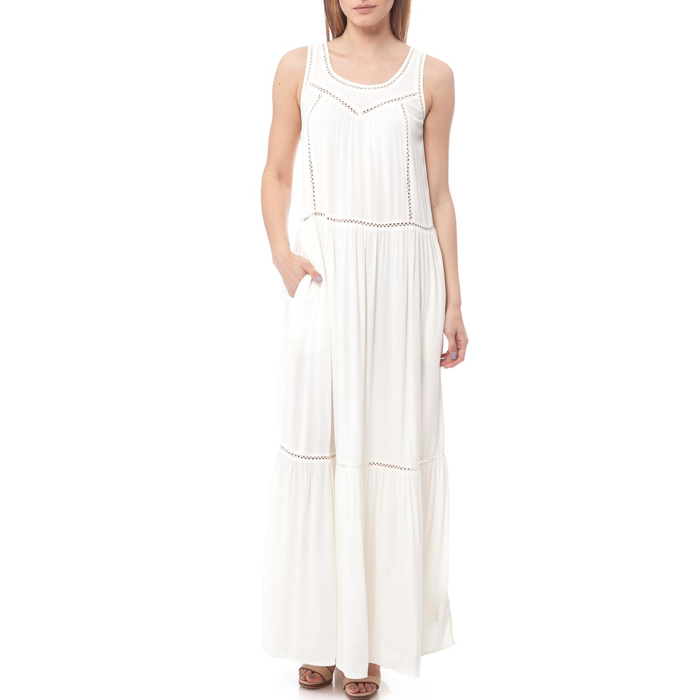 MAISON SCOTCH - Maxi φόρεμα Maison Scotch λευκό γυναικεία ρούχα φορέματα μάξι