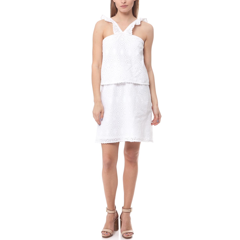 MAISON SCOTCH - Φόρεμα Maison Scotch λευκό γυναικεία ρούχα φορέματα μίνι