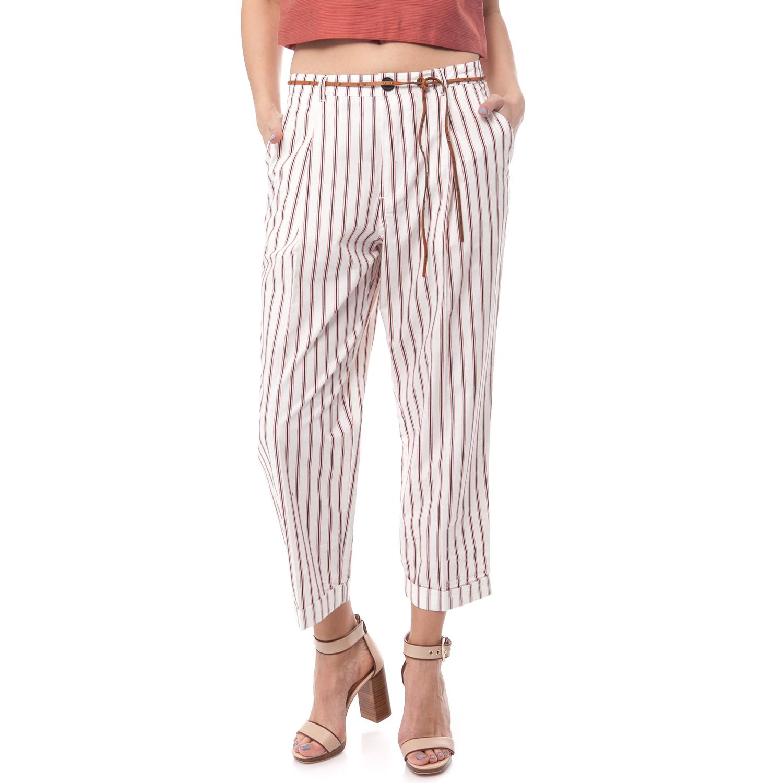 MAISON SCOTCH - Γυναικείο παντελόνι Maison Scotch εκρού γυναικεία ρούχα παντελόνια