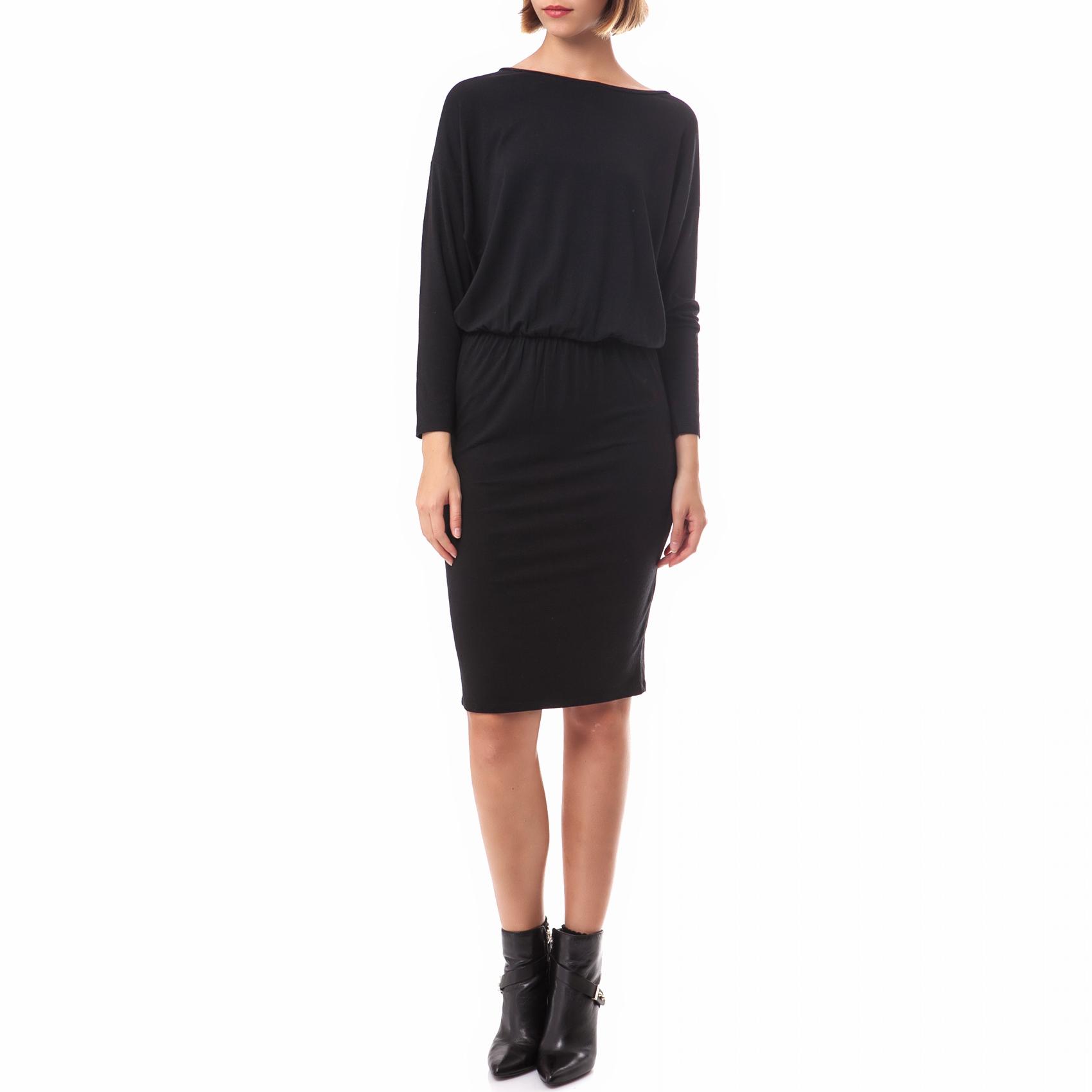 AMERICAN VINTAGE - Γυναικείο φόρεμα American Vintage μαύρο γυναικεία ρούχα φορέματα μέχρι το γόνατο