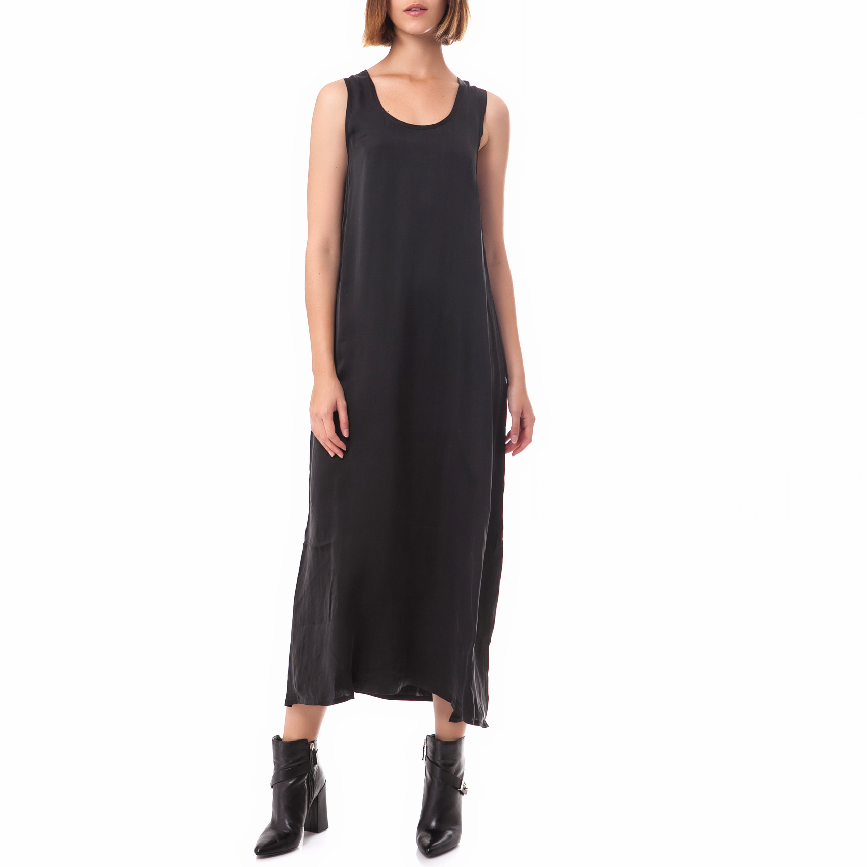 AMERICAN VINTAGE - Γυναικείο φόρεμα American Vintage ανθρακί γυναικεία ρούχα φορέματα μάξι