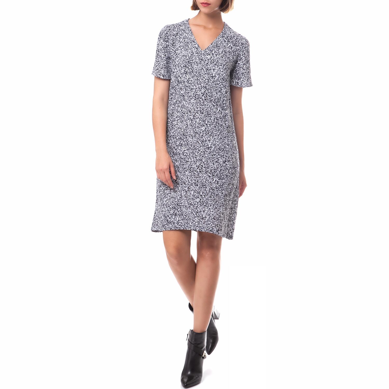 AMERICAN VINTAGE - Γυναικείο φόρεμα American Vintage μαύρο-λευκό γυναικεία ρούχα φορέματα μέχρι το γόνατο