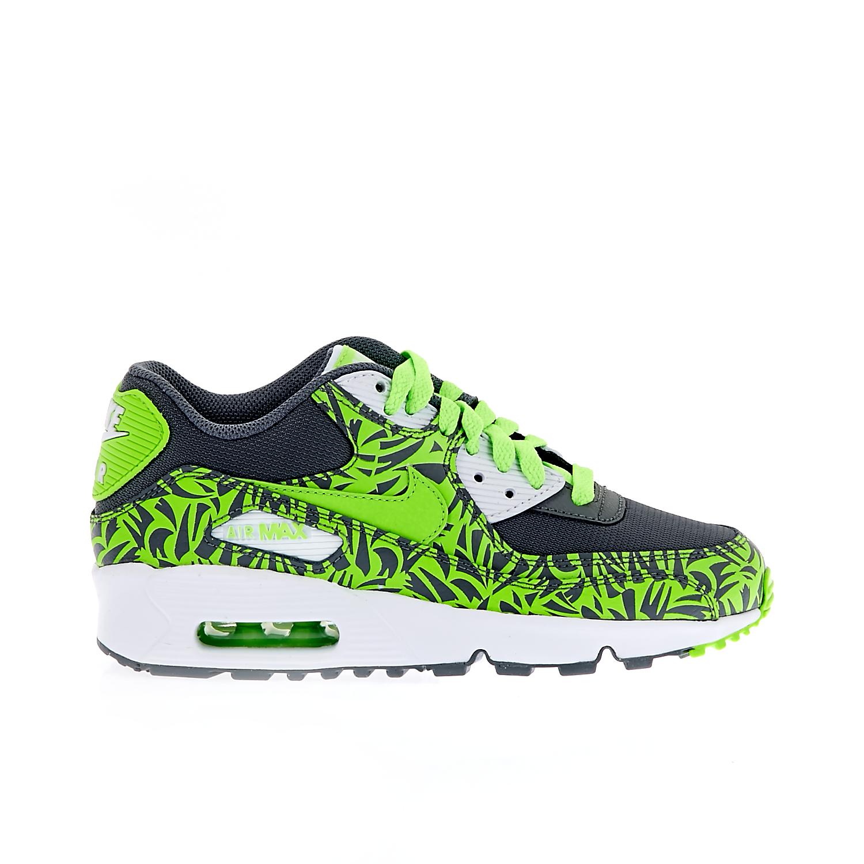 NIKE – Παιδικά παπούτσια NIKE AIR MAX 90 PRINT MESH GS πράσινα