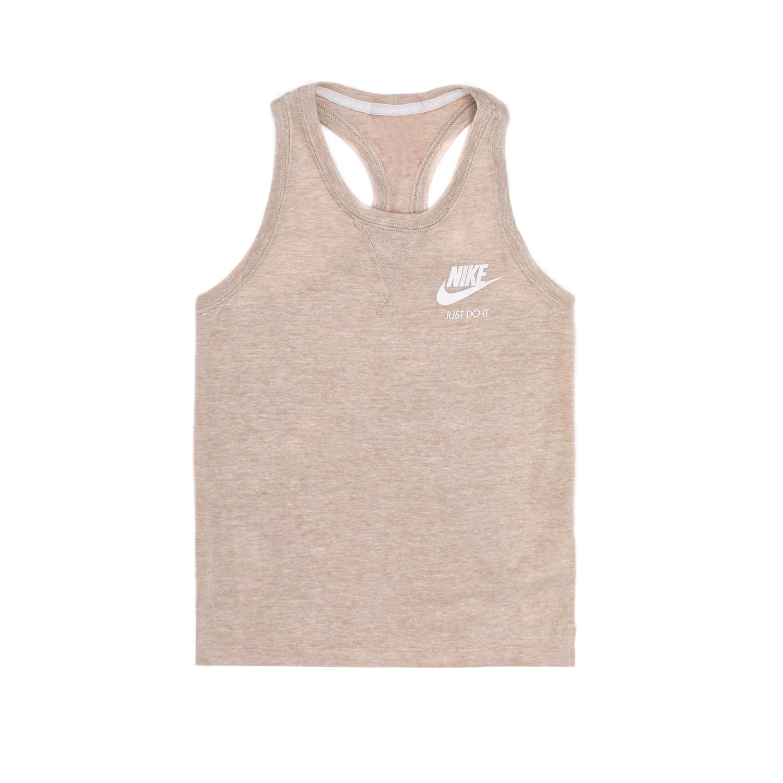 NIKE - Παιδική μπλούζα NIKE μπεζ αθλητική
