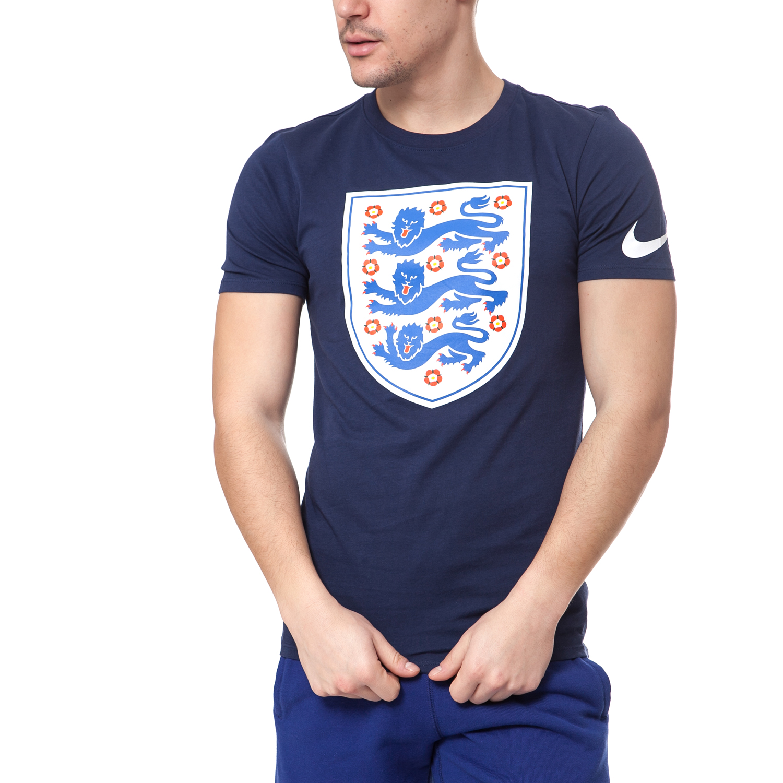 NIKE - Ανδρική μπλούζα NIKE ENT CREST μπλε ανδρικά ρούχα αθλητικά t shirt