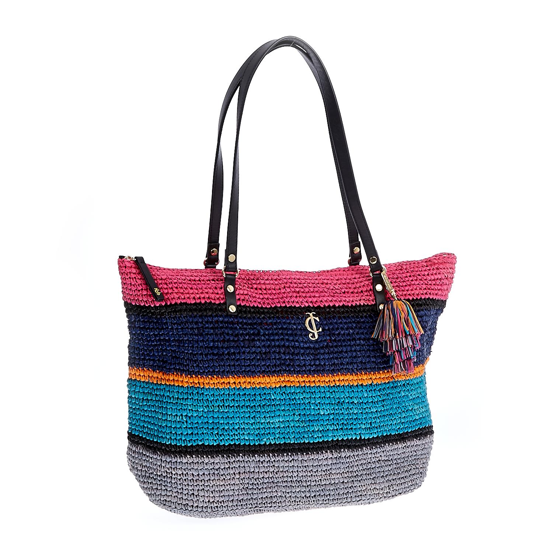 JUICY COUTURE – Γυναικεία τσάντα Juicy Couture μπλε-ροζ 1461025.0-0000
