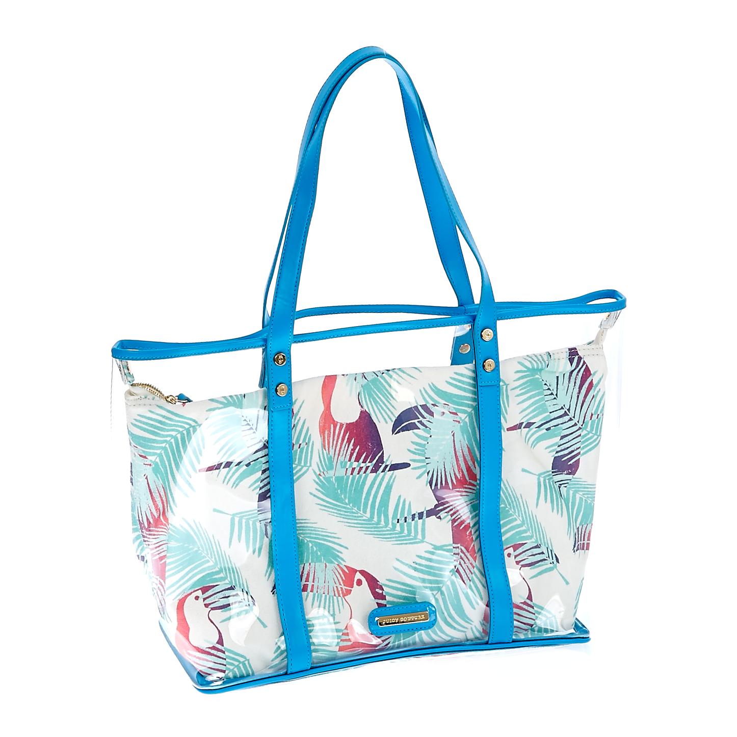 JUICY COUTURE – Γυναικεία τσάντα Juicy Couture μπλε-λευκή 1461028.0-0017