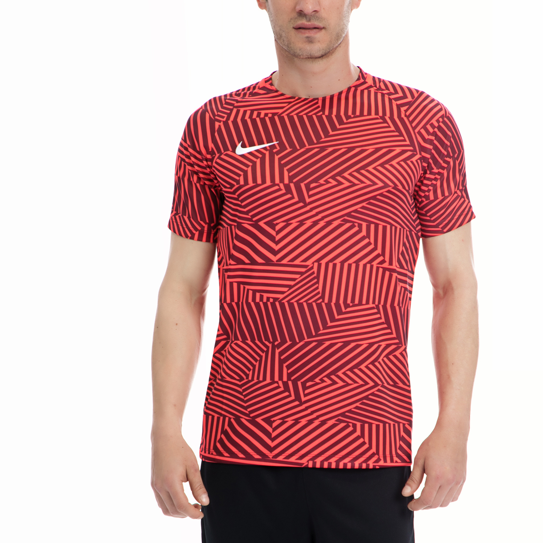 NIKE - Ανδρική μπλούζα NIKE κόκκινη-καφέ ανδρικά ρούχα αθλητικά t shirt