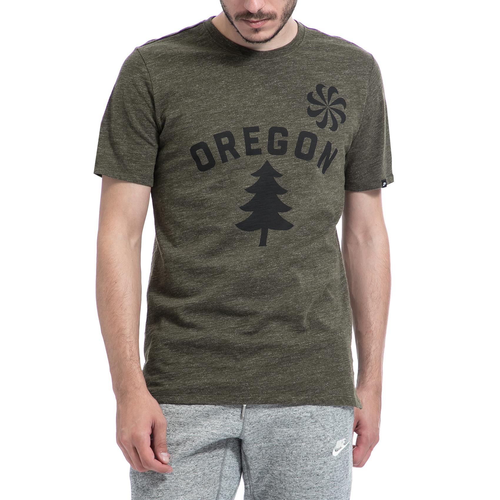 NIKE – Αντρική μπλούζα NIKE χακί