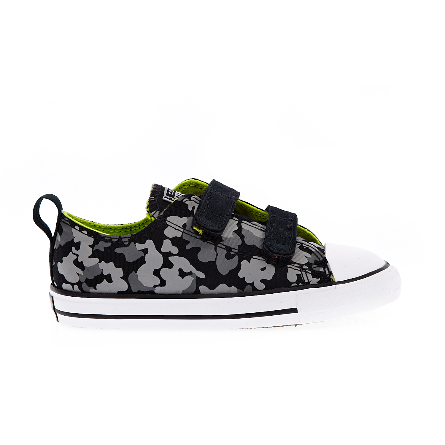 CONVERSE - Βρεφικά παπούτσια Chuck Taylor All Star 2V Ox μαύρα-γκρι παιδικά baby παπούτσια sneakers
