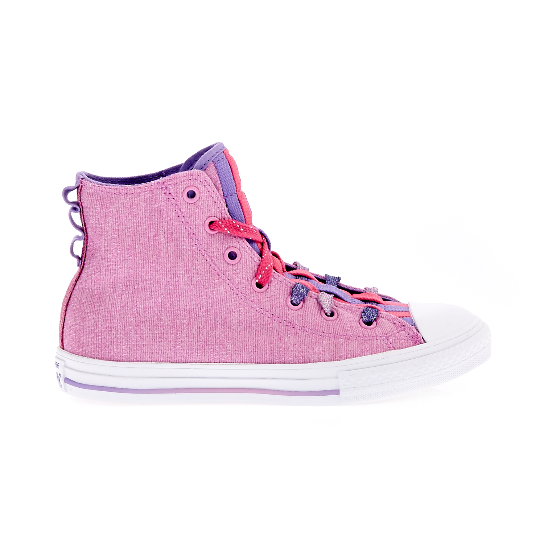 CONVERSE – Παιδικά παπούτσια Chuck Taylor Loopholes Hi ροζ