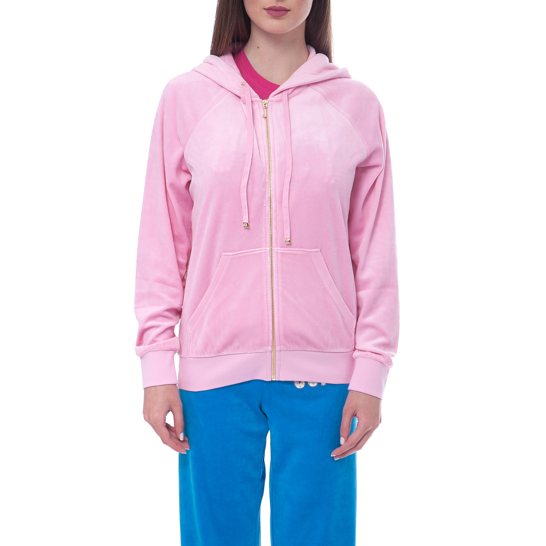 JUICY COUTURE - Γυναικεία ζακέτα Juicy Couture ροζ γυναικεία ρούχα πλεκτά ζακέτες ζακέτες