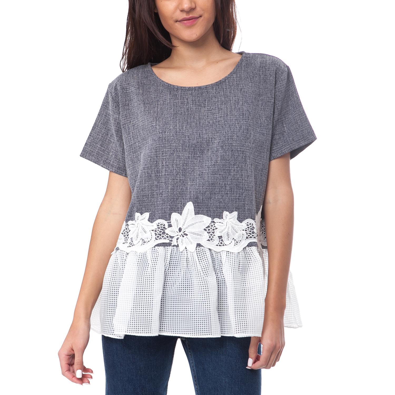 MOLLY BRACKEN - Γυναικεία μπλούζα MOLLY BRACKEN γκρι-μπλε γυναικεία ρούχα μπλούζες τοπ
