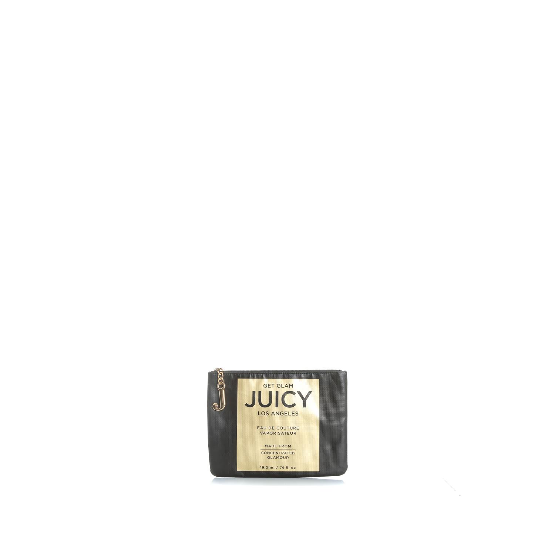 JUICY COUTURE - Γυναικείο τσαντάκι χειρός JUICY CARRY ME μαύρο γυναικεία αξεσουάρ τσάντες σακίδια χειρός