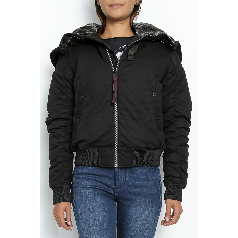 G-STAR - Γυναικείο bomber jacket G-Star Polax μαύρο γυναικεία ρούχα πανωφόρια μπουφάν