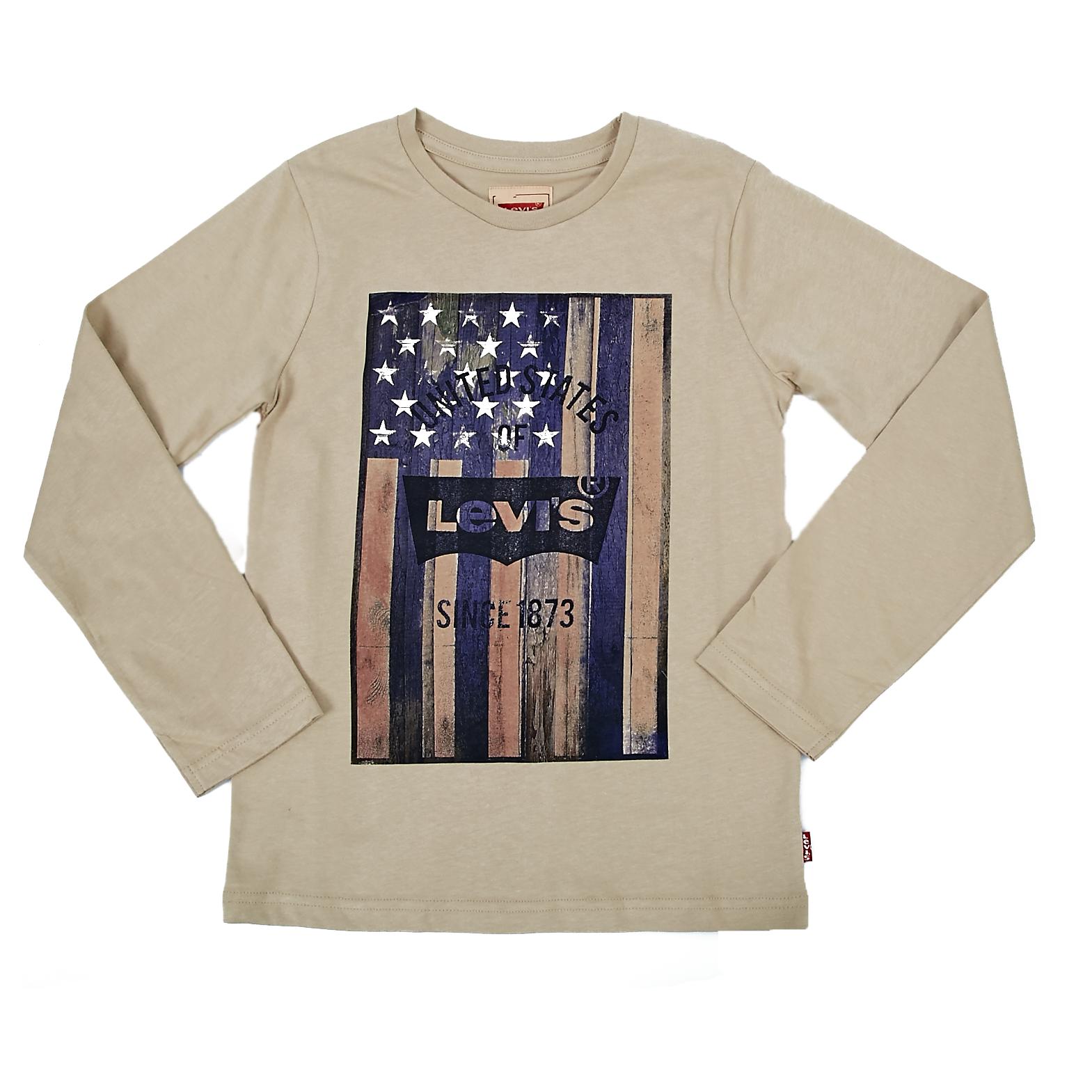 LEVI'S KIDS - Παιδική μπλούζα Levi's Kids μπεζ