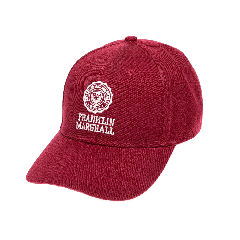 FRANKLIN & MARSHALL - Καπέλο FRANKLIN & MARSHALL κόκκινο