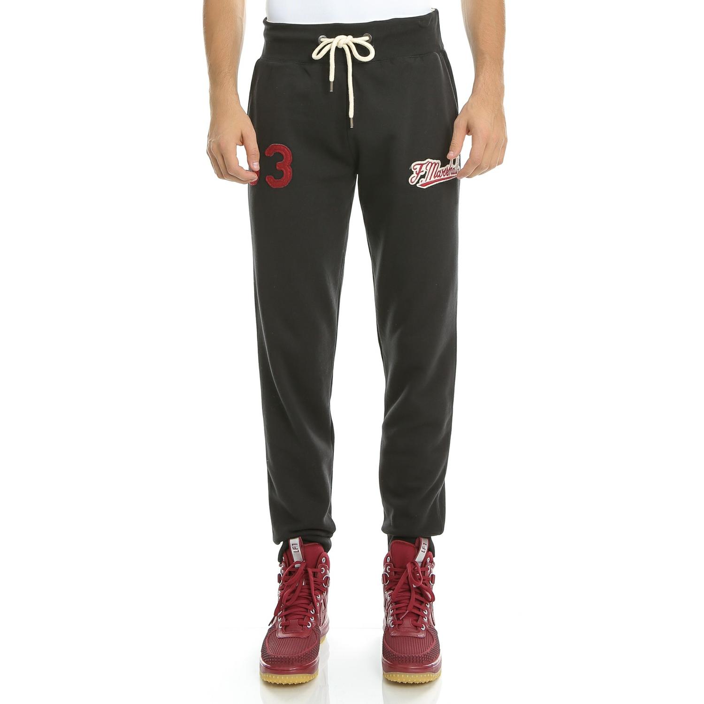 FRANKLIN & MARSHALL - Ανδρικό παντελόνι φόρμας Franklin & Marshall μαύρο ανδρικά ρούχα αθλητικά φόρμες