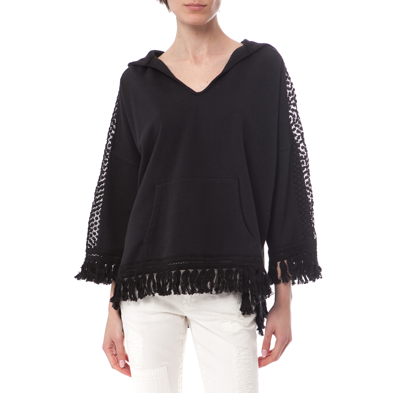 MAISON SCOTCH - Μπλούζα Maison Scotch μαύρη γυναικεία ρούχα μπλούζες μακρυμάνικα