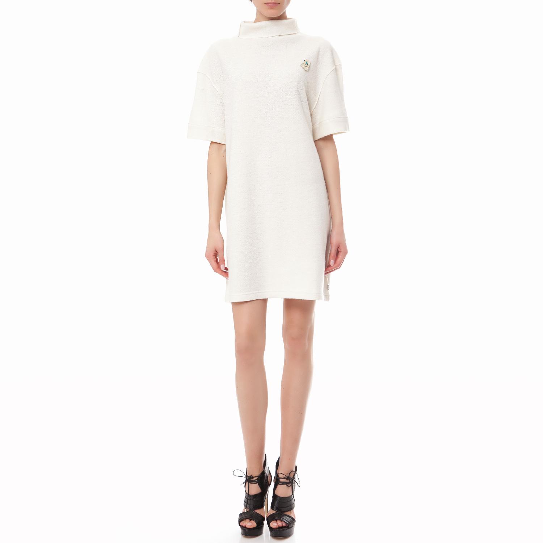 MAISON SCOTCH - Γυναικείο πουλόβερ Maison Scotch εκρού γυναικεία ρούχα φορέματα μίνι