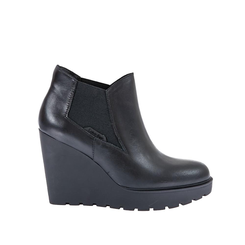 CALVIN KLEIN JEANS - Γυναικεία μποτάκια Calvin Klein Jeans μαύρα γυναικεία παπούτσια μπότες μποτάκια μποτάκια